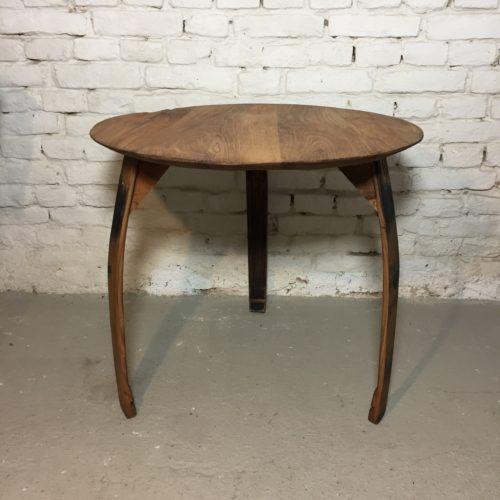 Esstisch rund, Esstisch rund, Eichenholztisch aus alten Wein & Mostfässer, Apollonlux.at