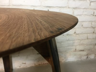 Esstisch rund, Terrassentisch, Eichenholztisch aus alten Wein & Mostfässer, Apollonlux.at