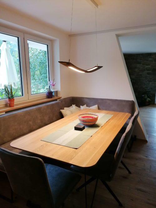 LED Lampe VALU aus alten Weinfasstauben, Eichenholz bis zu 100 Jahre alt, apollonlux.at